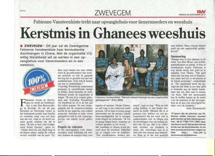Kerstmis in Ghanees weeshuis